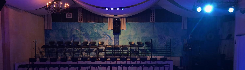 Zuschauer-Tribüne des Tanzstudios SCALA11 in Essen-Werden